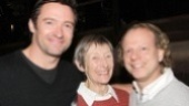 Hugh Jackman introduces Big Fish producer Bruce Cohen to his Broadway date—his mom, Grace Watson!