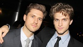 Aaron Tveit and Small Engine Repair's Keegan Allen prove that you can never have too much handsome in one photo.