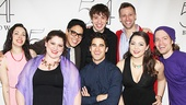 Darren Criss (center) poses with the Twisted cast: Holly Grossman, Rebecca Spigelman, George Salazar, A.J. Holmes, Tyler Brunsman, Andrea Ross (Jasmine) and Jeff Blim (Aladdin).