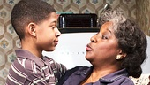 Bryce Clyde Jenkins as Travis Younger & LaTanya Richardson Jackson as Lena Younger in A Raisin in the Sun