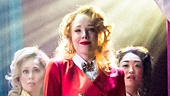 Jessica Keenan Wynn as Heather Chandler and the cast of Heathers: The Musical