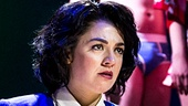 Barrett Wilbert Weed as Veronica Sawyer and the cast of Heathers: The Musical