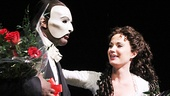 Bravissimi! Norm Lewis and Sierra Boggess take their first Broadway bows together as the Phantom and Christine in The Phantom of the Opera.