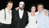 Jeremy Hays, Norm Lewis and Sierra Boggess take a snapshot with Phantom composer Andrew Lloyd Webber.