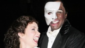 Sierra Boggess and Norm Lewis share a laugh after the show.