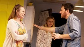 Cara Seymour as Jenny, Greta Gerwig as Becky, and Jason Butler Harner as John in The Village Bike.