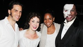 Will Swenson, Sierra Boggess, Audra McDonald and Norm Lewis take a sweet snapshot after the show.