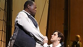 Chuck Cooper as Thomas & Josh Young as John Newton in Amazing Grace.
