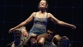 Enid Graham as Judy and the cast of The Curious Incident of the Dog in the Night