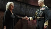 Margot Leicester as Camilla and Tim Pigott-Smith as King Charles III.