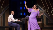 Brandon Victor Dixon as Eubie Blake and Audra McDonald as Lottie Gee in Shuffle Along.