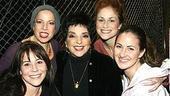 Liza Minnelli at Jersey Boys - Sara Schmidt - Jennifer Namo - Liza Minnelli - Heather Ferguson - Erica Piccininni