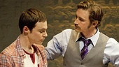 Jim Parsons as Tommy Boatwright and Lee Pace as Bruce Niles in The Normal Heart.