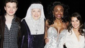 Glee Cast at Sister Act – Chris Colfer – Victoria Clark – Patina Miller – Lea Michele