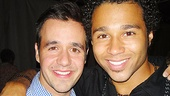 Corbin Bleu celebrates with his In the Heights co-star, Noah Rivera.