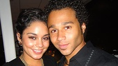Corbin Bleu gets a hug from his High School Musical co-star Vanessa Hudgens, who starred in last summer's Hollywood Bowl musical, Rent.