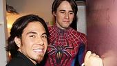 Apolo Anton Ohno Backstage at Spider-man - Apolo Anton Ohno – Reeve Carney