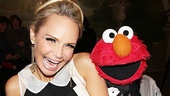 How could we not lead off with this photo? Elmo greets Drama League honoree (and Sesame Street alum) Kristin Chenoweth.