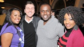 Cotton Club director and choreographer Warren Carlyle couldn't be prouder of his stars, Amber Riley, Joshua Henry and Adriane Lenox.