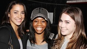Gabby Douglas, McKayla Maroney and Aly Raisman at 'Bring It On' — Aly Raisman — Gabby Douglas — McKayla Maroney