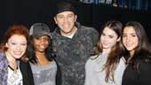 Gabby Douglas, McKayla Maroney and Aly Raisman at 'Bring It On' — Courtney Corbeille — Gabby Douglas — Dahlston Delgado — McKayla Maroney — Aly Raisman