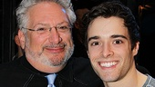 Harvey Fierstein and Newsies star Corey Cott couldn't look happier to celebrate their show's first birthday.