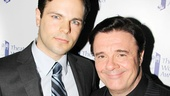 Nathan Lane is on hand to support his The Nance co-star Jonny Orsini, who won the Dorothy Loudon Award for Excellence in the Theatre.
