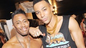 Motown hunks Eric LaJuan Summers and Charl Brown join in the fun at Broadway Bares.