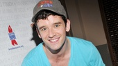 Michael Urie (Buyer and Cellar) gets down to spend some quality time with a four-legged friend.