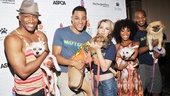 Motown The Musical's Bryan Terrell Clark, Charl Brown, Morgan James, Valisia LeKae and Brandon Victor Dixon show some soulful love to a quartet of furry friends.
