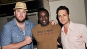 Cast members Chris Sullivan, Joshua Henry and Van Hughes come together for a post-show pic.