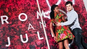 """Condola Rashad and Orlando Bloom are the first to tag and sign Romeo and Juliet's alluring """"Juliet's Wall"""" outside the Richard Rodgers Theatre."""