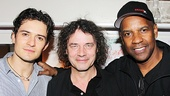 Romeo and Juliet director David Leveaux pauses for a photo with two of film's (and theater's) biggest talents, Orlando Bloom and Denzel Washington.