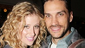 Broadway favorites Caissie Levy and Will Swenson arrive together for a Glass-y opening night.