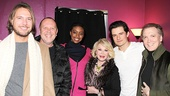 Michael Kors and his husband, Lance LePere (l.), come in close for a photo with Condola Rashad, Joan Rivers, Orlando Bloom and Charles Busch.