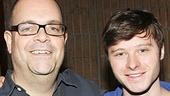 Big Fish stars Brad Oscar (Amos Calloway) and Bobby Steggert (Will Bloom) take a break at MSR Studios.