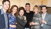 Beautiful stars Jake Epstein, Jessie Mueller, Liz Larsen, Anika Larsen & Jarrod Spector rally around The X Factor judge Simon Cowell.