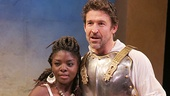 Joaquina Kalukango as Cleopatra & Jonathan Cake as Mark Antony in Antony and Cleopatra