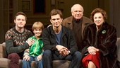 Bobby Steggert as Will Ogden, Grayson Taylor as Bud, Frederick Weller as Cal Porter, playwright Terrence McNally & Tyne Daly as Katharine in Mothers and Sons
