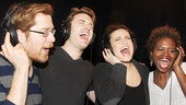 If/Then stars Anthony Rapp, James Snyder, Idina Menzel and LaChanze nail a take in the recording booth.