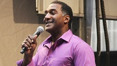 Phantom star Norm Lewis serves as the day's host.