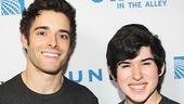 Corey Cott and Andy Richardson are on hand to represent Newsies.