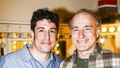 The Heidi Chronicles - Backstage - Original Cast - 4/15 - Jason Biggs - Peter Friedman