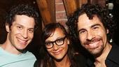 Hamilton - backstage - 8/15 - Thomas Kail - Alex Lacamoire - Rashida Jones