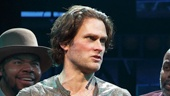 Steven Pasquale as Jamie Lockhart and the cast of The Robber Bridegroom
