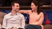 Jake Epstein as Ben and Jenna Gavigan as Emily in Straight.
