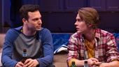 Jake Epstein as Ben and Thomas E. Sullivan as Chris in Straight.