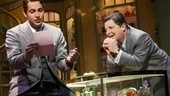 Zachary Levi as Georg and Michael McGrath as Sipos in She Loves Me.