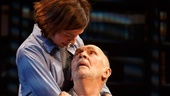 Hannah Cabell as Laura and Frank Langella as Andre in The Father.