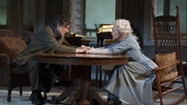 Gabriel Byrne as James Tyrone and Jessica Lange as Mary Tyrone in Long Day's Journey Into Night.
